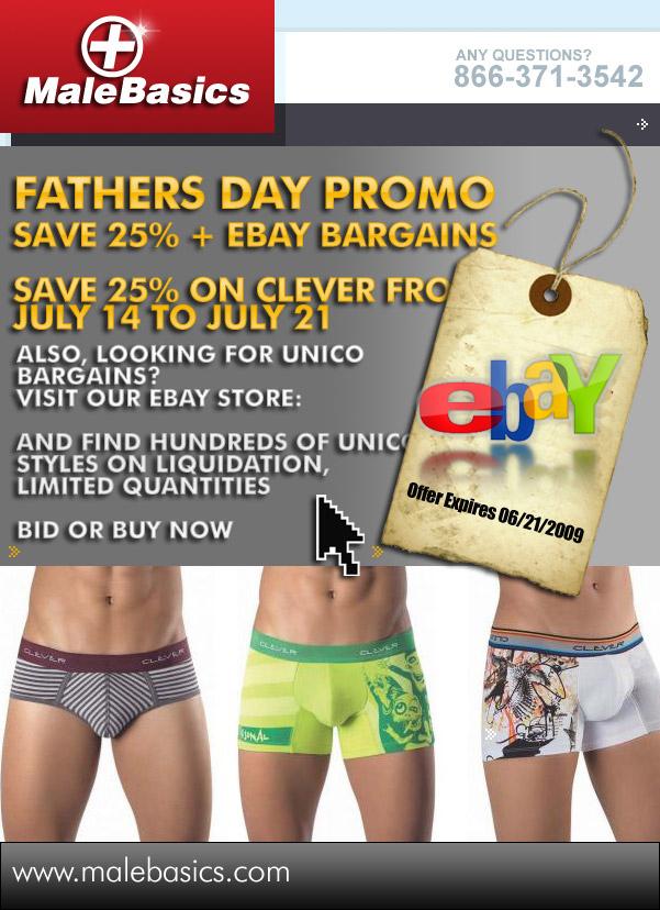 Male Basics - Fathers Day Promo
