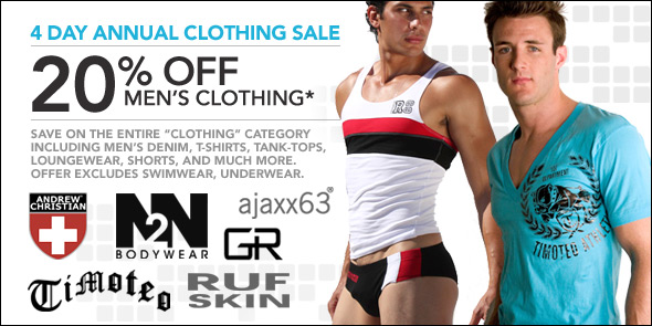 10 Percent - Sale on All Men's Clothes