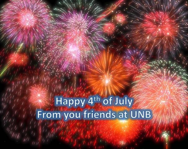 Happy 4th from UNB