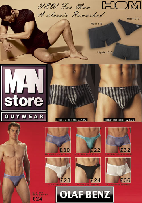 New Olaf Benz, Man Store and HOM at Dead Good Undies