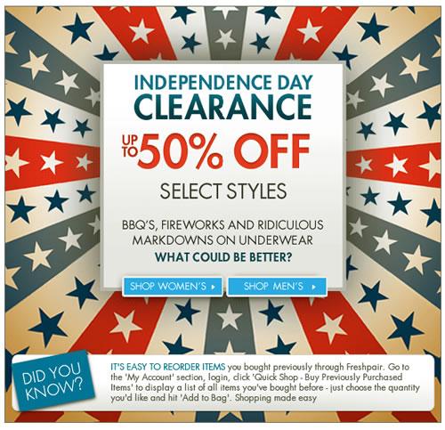 Freshpair - 4th Clearance Sale