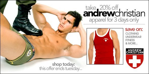 10 Percent.com - Andrew Christian Sale