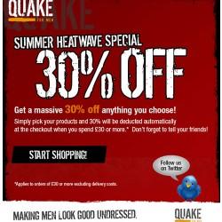 Quake for Men – Save 30%!