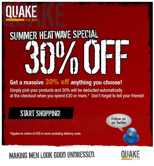 Quake for Men - Save 30%!