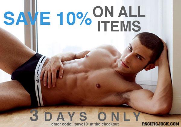 Save 10% off at Pacific Jock