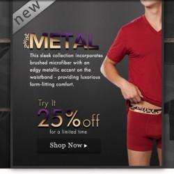 Men's Underwear Store has 2(x)ist Metal and New Diesel