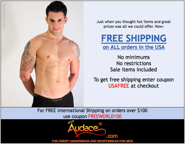 Free Shipping at Audace