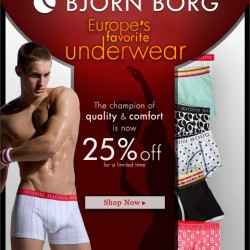 Bjorn Borg is on sale at Men's Underwear Store