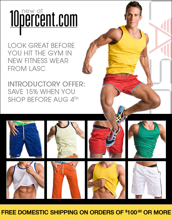 15% off LASC Workout wear at 10 Percent.com
