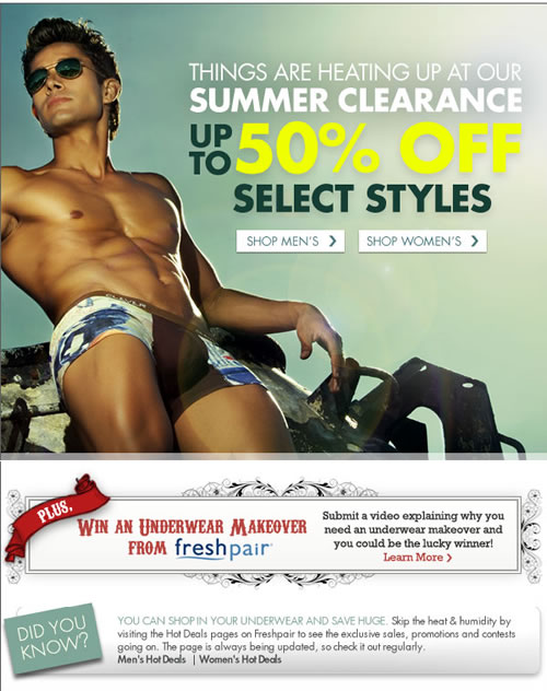 Summer Clearnce at Fresh Pair.com