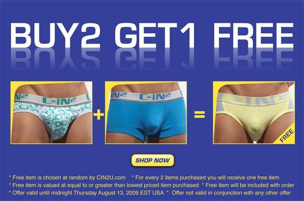 Buy 2 Get 1 Free at C-IN2U