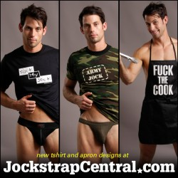 New T-Shirts And Aprons At Jockstrap Central