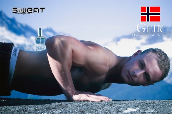 Sweat Under Gear is in Geir Ness Cologne Ad!