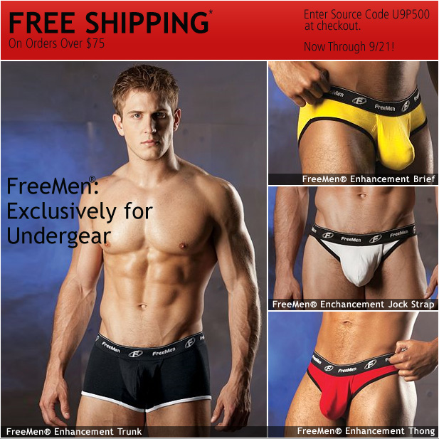 Exclusive: FreeMen for Undergear + Free Shipping!