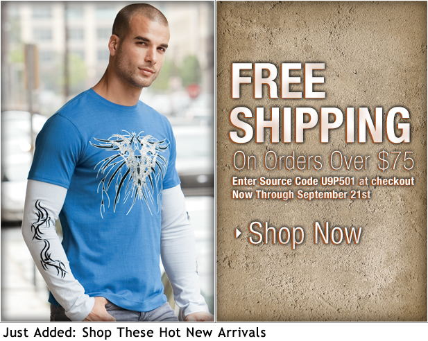Free Shipping + This Fall's Hottest Tees at UnderGear