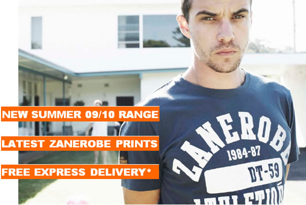 Free Express Delivery for Zanerobe Summer 09/10 Range. Now Available at Below the Belt