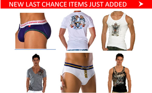 50% off Andrew Christian T-Shirts + Tanks. Final Chance to Save with New Items Just Added at Below the Belt