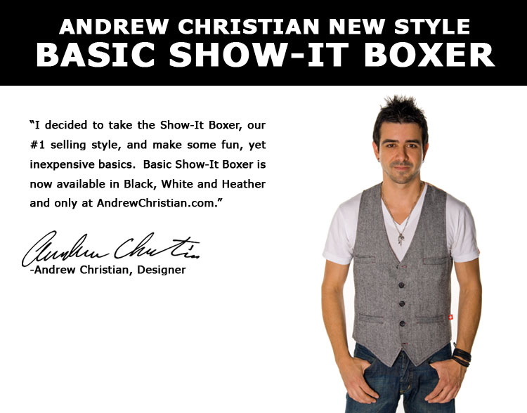 New Basic Show-it Boxer from Andrew Christian