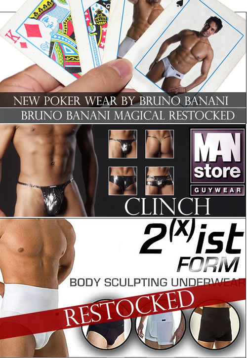 New Bruno Banani and MANstore plus 2xist Form back in stock at Dead Good Undies