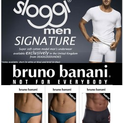 Exclusive to DGU Sloggi signature plus new Bruno Banani peace & power