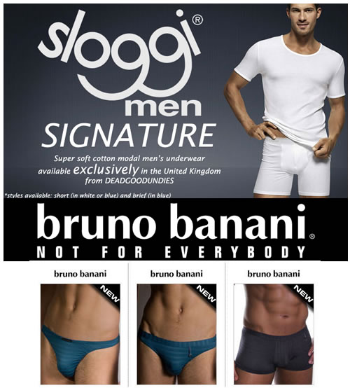 Exclusive to DGU Sloggi signature plus new Bruno Banani peace & power