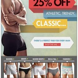 Calvin Klein 25% Off at Freshpair (plus, Free Shipping)