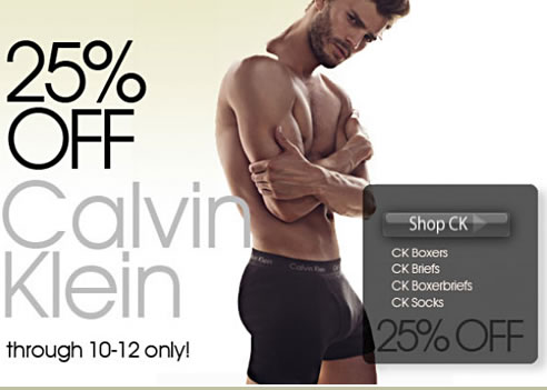 Calvin Klein 25% Off At HisRoom - Hurry.