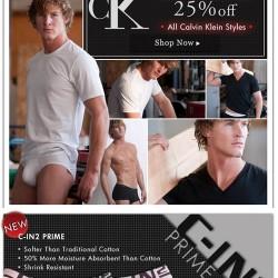 Calvin Klein Now 25% Off + Free Shipping at Men's Underwear Store