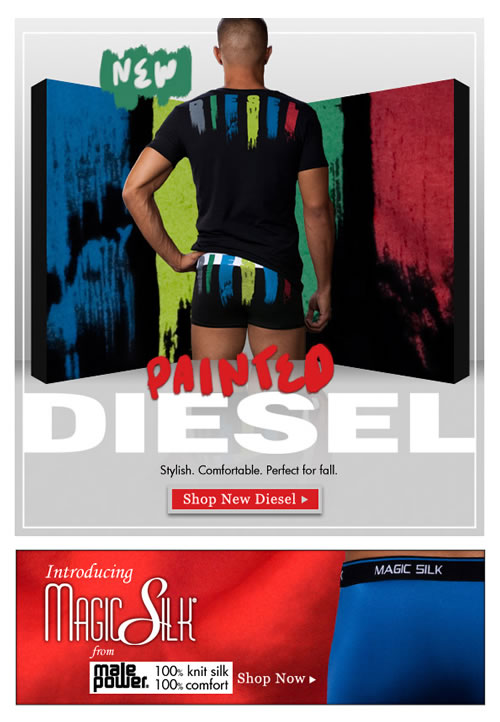 Paint the Town with the new Diesel from Men's Underwear Store