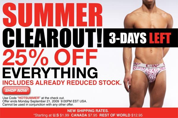 25% Off Summer Melt Down at C-IN2U
