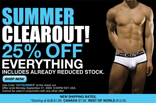 Summer Clearout Sale at C-IN2U