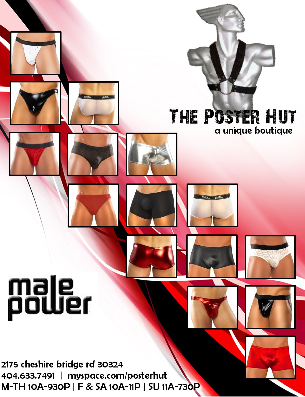 Poster Hut has New Male Power