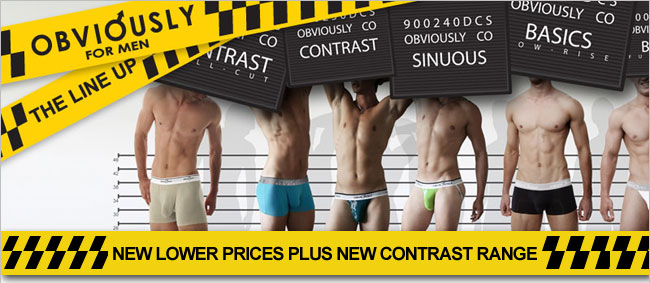 New Obviously for men Contrast and price reduction plus JBS undies and socks at Dead Good Undies