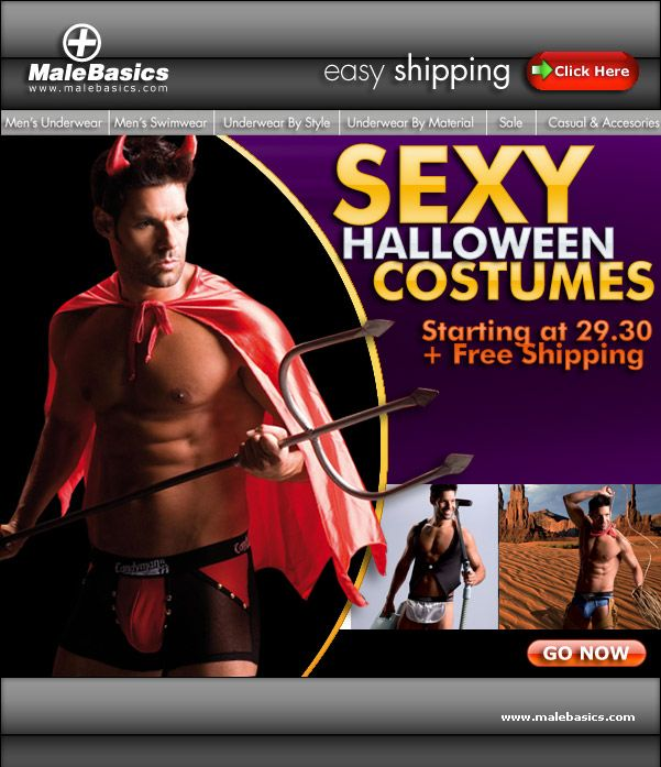Sexy Halloween + Free Priority Domestic Shipping at Male Basics