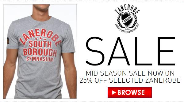 Zanerobe Mid Season Sale 25% off Selected Items