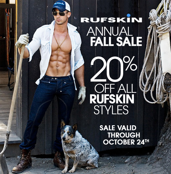 Annual Fall Sale: 20% Off All Rufskin Products at 10 Percent.com