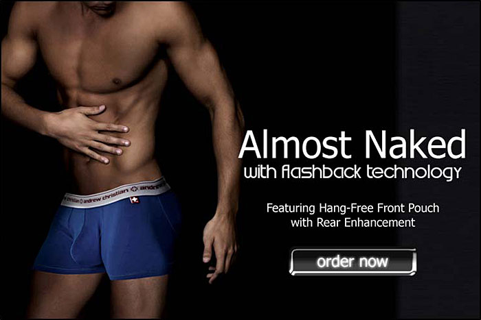 Andrew Christian Mashup: Almost Naked w/ Flashback Now Shipping