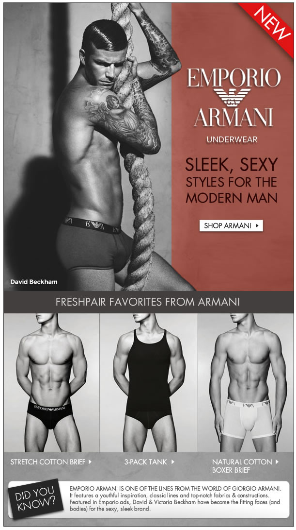 Emporio Armani Now Available at Freshpair