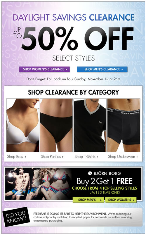 Up to 50% Off - Daylight Savings Clearance (New Items Just Added!) at Fresh Pair
