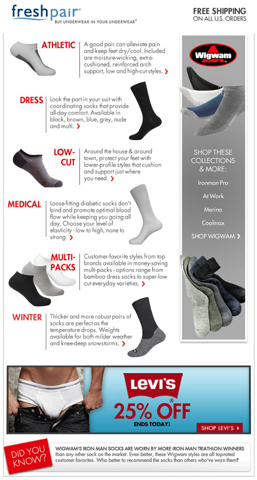 Give Your Feet a Break, Get the Right Socks at Freshpair