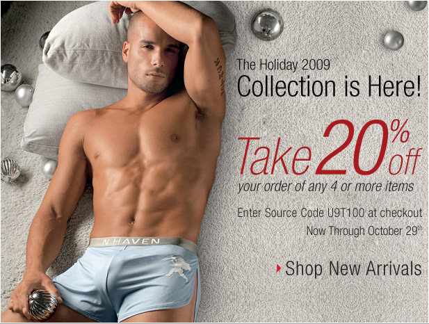 New Holiday Collection + Save Up To 20% at UnderGear