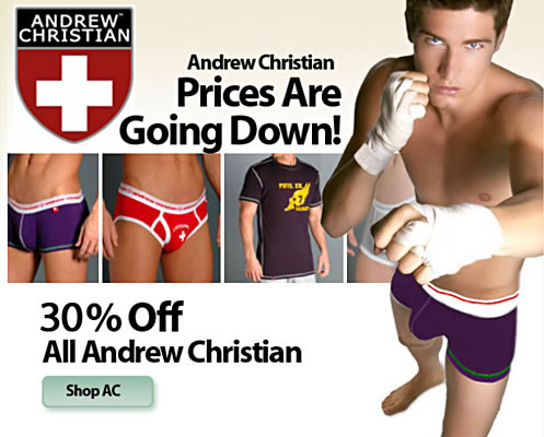 Save on Andrew Christian at His Room