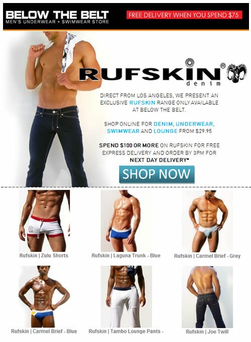 Rufskin from $29.95 - Underwear, Denim, Swimwear + Lounge at Below the Belt