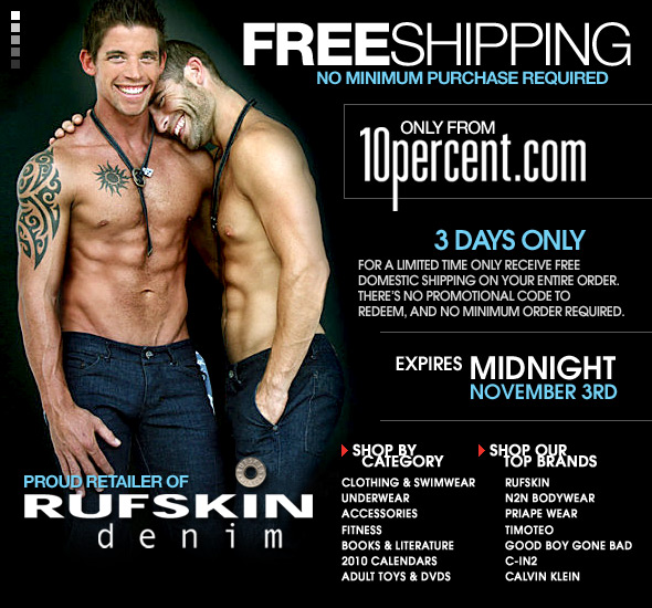 3 Days Only: Free Shipping On Any U.S. Order at 10 Percent.com