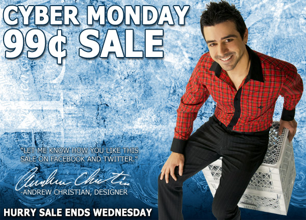 Andrew Christian Cyber Monday 99 Cent Sale