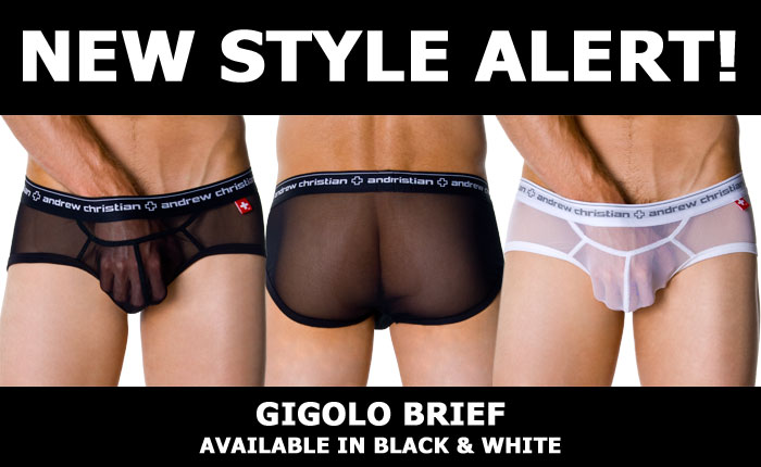 Andrew Christian New Style Alert: Gigolo Brief