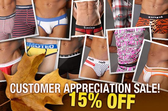 Customer Appreciation Sale...15% OFF + New Arrivals at Malestrom