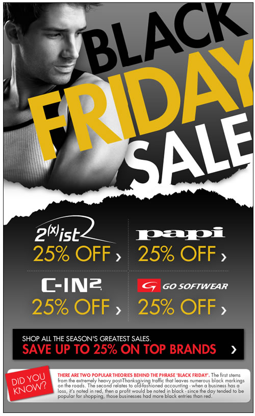 25% Off Top Men's Brands + More Exclusive Black Friday Offers at Fresh Pair