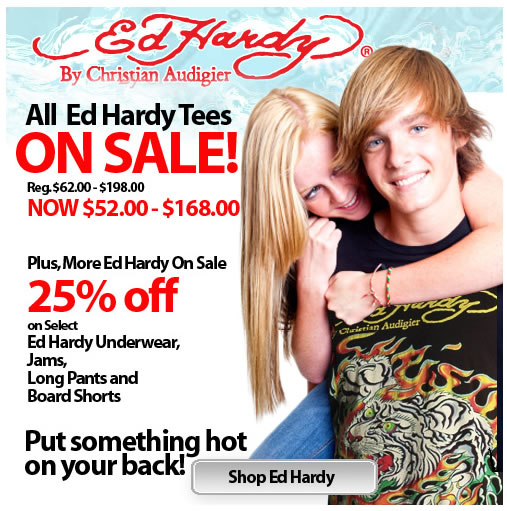 Check Out the Giant Ed Hardy Sale at HisRoom