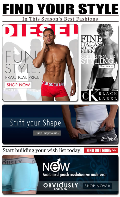 Four of This Season's Must-Haves at Men's Underwear Store